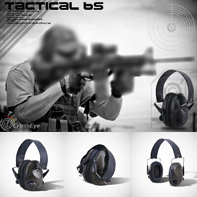 Electronic Ear Defenders Sport Shooting Hunting Earmuffs Protection Black/Green • 24.90£