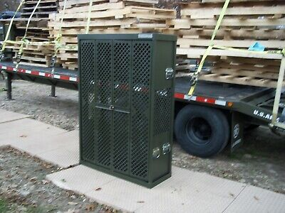 $575 • Buy Military Surplus Space Saver  Weapons  Rifle Pistol Rack Cabinet  Safe Gun Army