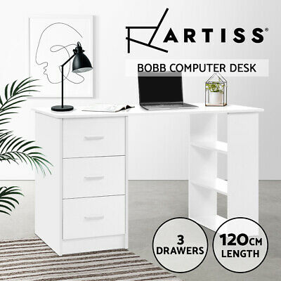 AU112.95 • Buy Artiss Computer Desk Student Office Table Study Workstation Bookshelf Storage