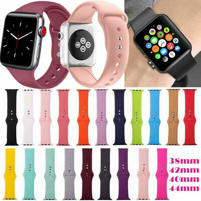 $ CDN6.99 • Buy Silicone Bracelet Band Strap For Apple Watch IWatch Sports Series 1/2/3/4 Canada