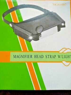 Head Magnifying Glass Light Magnifier Visor 1.8X To 4.8X NEW • 7.97£