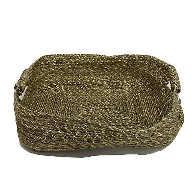 West Elm Metallic Woven Underbed Basket Gold FREE Domestic Shipping • 19.17£