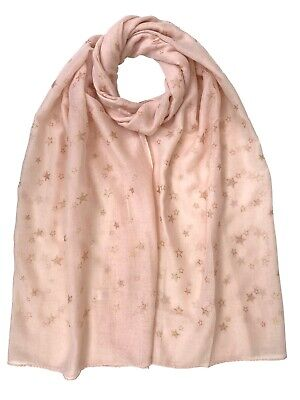 Star Foil Print Scarf Christmas Collection Light Wight Shawl Wrap Pashmina • 3.99£