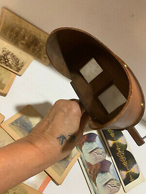 Antique Stereoscope 3D Stereo Viewer With 12 Picture Cards, President McKinley • 29.98£