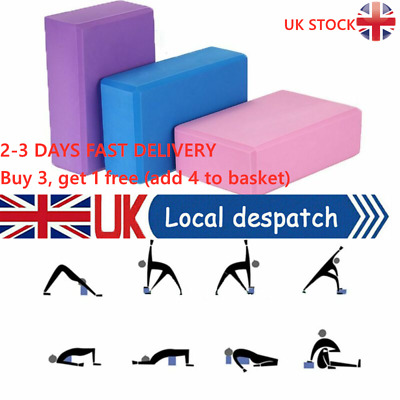 2x Yoga Block EVA Foaming Foam Brick Pilates Exercise Gym Fitness Up Stretching • 6.78£