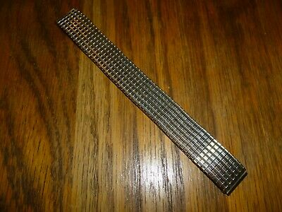 £4.99 • Buy MEN'S  EXPANDABLE GOLD PLATED STAINLESS STEEL WATCH STRAP 16mm ENDS.