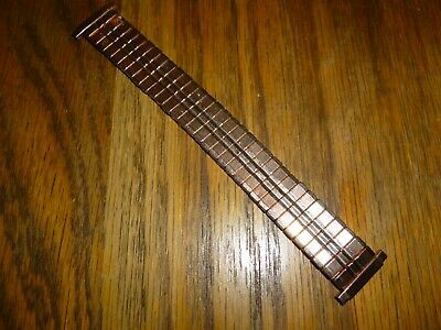 Men's Watch Strap Gold  Plated Expandable Stainless   Replacement 16-21mm  ... • 4.99£