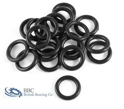 Imperial Nitrile Rubber O Rings 1.78mm Cross Section BS001-BS031 - PACK OF 10 • 1.96£