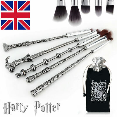 5PCS Harry Potter Magic Wand Make Up Brushes Set Eyeshadow Eyeliner Eyebrow Gift • 5.99£