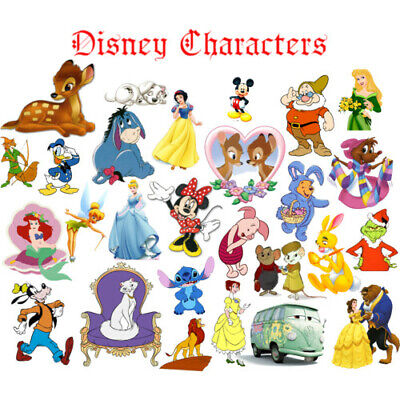 Disney Classic Pixar Movie Characters 60s 70s 80s 90s Iron On T-shirt Transfer • 2.19£