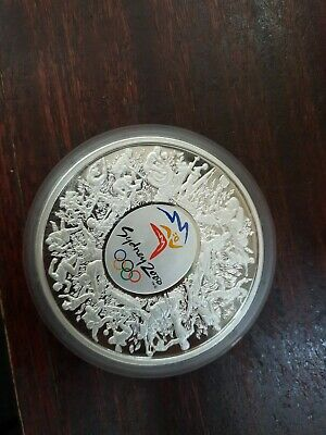 AU1750 • Buy 2000 1kg Coloured Silver $30 Sydney Olympic Coin No Box Just Capsule