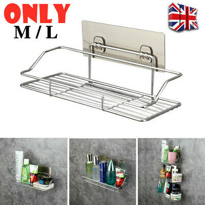 £9.39 • Buy Stainless Steel Non Rust Bathroom Shower Shelf Storage Suction Basket Tidy Caddy