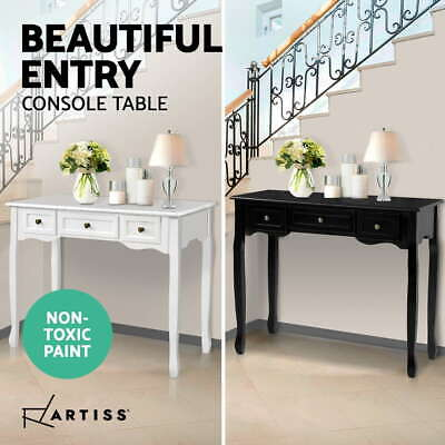 AU109.95 • Buy Artiss Hall Console Table Hallway Side Dressing Entry Display Stand 3 Drawers