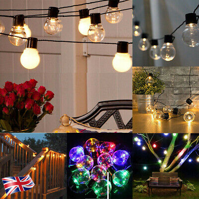 Retro String Lights Outdoor Garden LED Festoon Party Globe 20 Bulbs Light Xmas • 9.99£