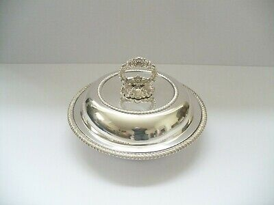 ANTIQUE C1900 SILVER PLATED ENTREE DISH / TUREEN  • 25£