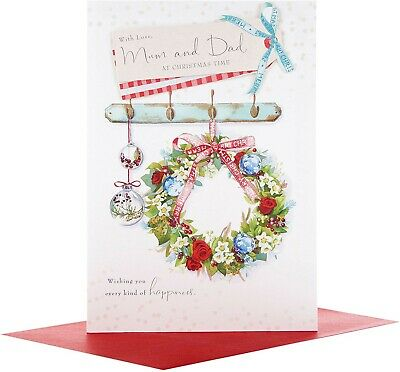 Hallmark Lucy Cromwell Mum And Dad Christmas Card  • 2.59£