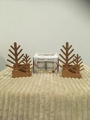 Yankee Candle Xmas Tealight Holders And A Box Of Tealights Snow In Love • 20£