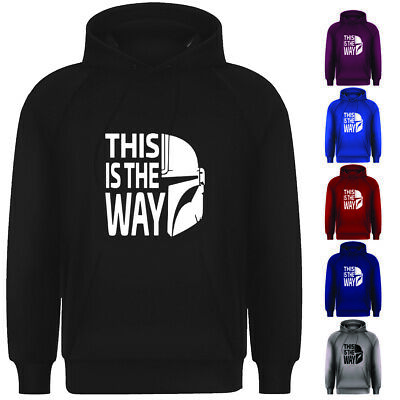 Adults The Mandalorian Star Wars Inspired This Is The Way Pullover Hoodie Top • 13.99£