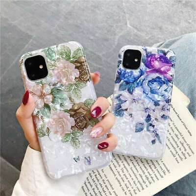 For IPhone 12 11 XS Max XR 7 6s + Shell Case Soft Shockproof Phone Cover Floral • 2.96£
