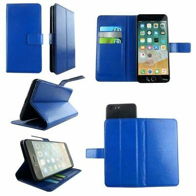 AU14.43 • Buy Premium Leather Mobile Phone Blue Wallet Book Case For Sony Xperia XZ-L