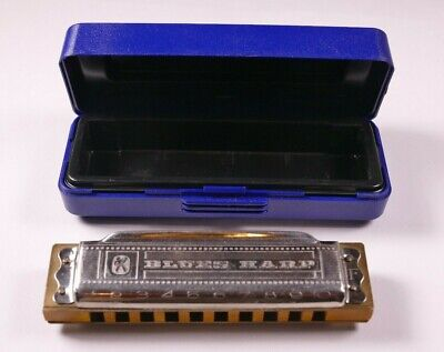 $25 • Buy M. Hohner Blues Harp Key Of F W/Case Made In Germany