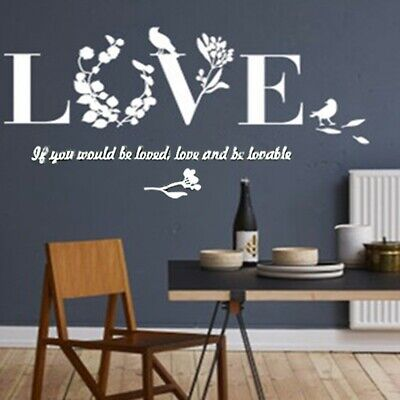 Letters Love Home Furniture Mirror Tiles Wall Sticker Self-Adhesive Art Decor UK • 6.01£
