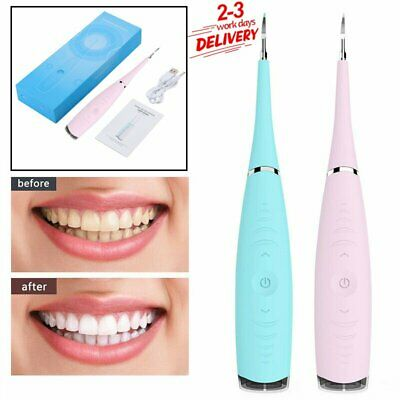 UK Electric Sonic Dental Scaler Tartar Calculus Plaque Remover Teeth Stain Clean • 8.89£