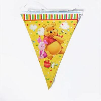 £2.98 • Buy 10 Winnie The Pooh Birthday Party Hanging Flag Disney Banner Decoration Bunting