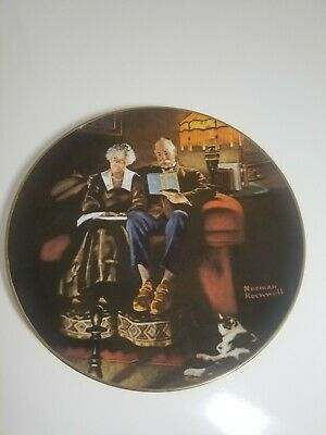 $ CDN13.32 • Buy Edwin M. Knowles Collector Plate  Evening's Ease  Norman Rockwell Plate # 2678M