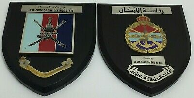 Vintage Regimental Mess Shields / Plaques - State Of Oman Military / Police ?  • 32£