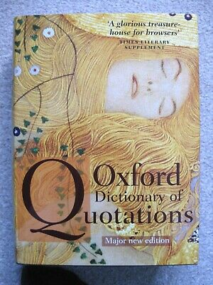 Oxford Dictionary Of Quotations~Knowles; 2009; Hardback And Dust Jacket • 25£