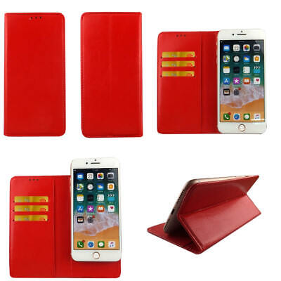 AU14.29 • Buy Premium Leather Mobile Phone Red Wallet Flip Case For Oppo F1s -L