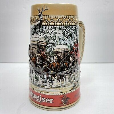 $ CDN23.93 • Buy Vintage Budweiser Series Collector's Series 1987 Clydesdale Winter Holiday Stein