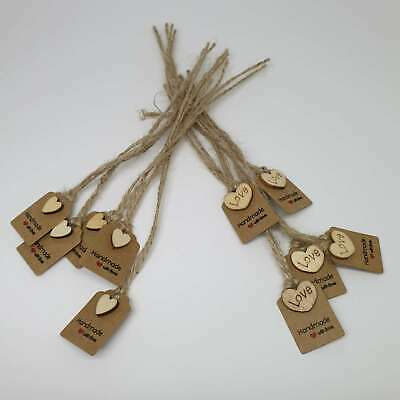 Tags Small Brown Kraft Embellished Most Wonderful Time Christmas Gift Label 10pc • 3.57£