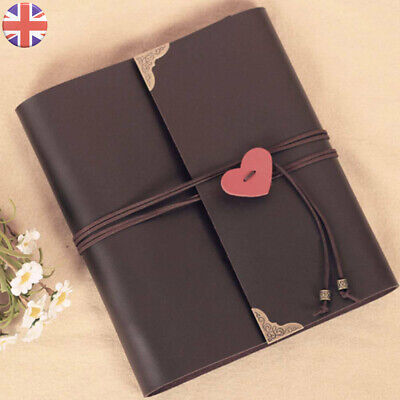 30 Page Photo Album Leather Scrapbook Gifts Vintage Albums 120pcs Travel Holiday • 7.19£
