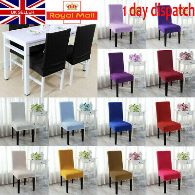 UK 2/4/6PCS Dining Chair Covers Slip Removable  Stretch Wedding Banquet Party • 9.69£