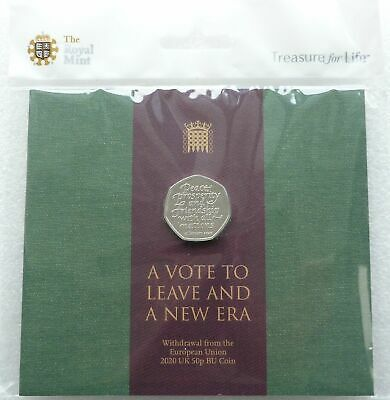 2020 Royal Mint Withdrawal From The EU Brexit 50p Fifty Pence Coin Pack Sealed • 4.20£
