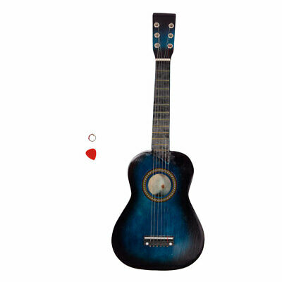 25  Inch Kids Wooden Acoustic Guitar Children Toy Gift With Pick 6 Strings • 17.10£