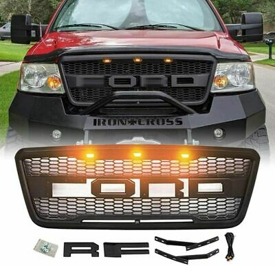 $112.98 • Buy For 2004-2008 Ford F150 Raptor Style Conversion Front Mesh Hood Grill W/ LED OEM
