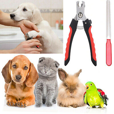 Pet Dog Cat Nail Paw Claw Clippers With Protective Guard File Suitable For Pets. • 3.85£