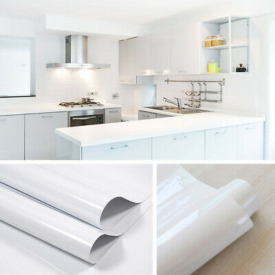 Kitchen Cabinet Furniture Stickers Vinyl Wallpaper Self Adhesive Cupboard Cover • 13.95£