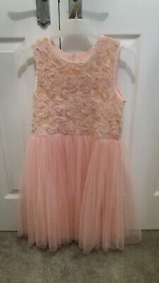 Yumi Girl Coral Pink Party Dress Age 9/10 Years • 6£