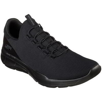 Skechers Equalizer Mens Extra Wide Fit Black Slip On Trainers Shoes Size 5.5-13 • 49.99£