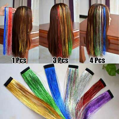 Hair Extensions Dazzles Extensions Tinsel Clip In Hair Holographic Partystyle • 2.84£