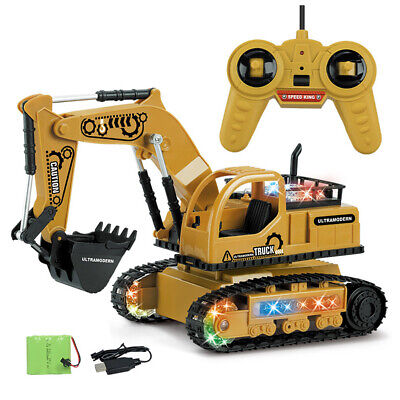 Remote Control Digger RC Kids Xmas Toy Excavator Truck Controlled Construction • 21.68£