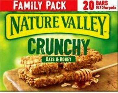 £7.99 • Buy Nature Valley Crunchy Oats&Honey Family Pack Cereal Bars 10 X 2 Bar Free Postage