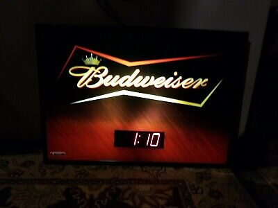 $ CDN78.33 • Buy Budweiser LED Lighted Digital Clock Sign