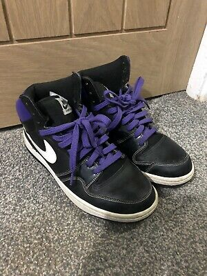 Nike Court Force High Top - Size UK 8 - Black • 17.99£