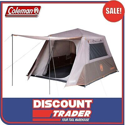 AU299 • Buy Coleman 2126164 Silver Evo Series 6 Person Instant Up Camping Tent Full Fly 6P