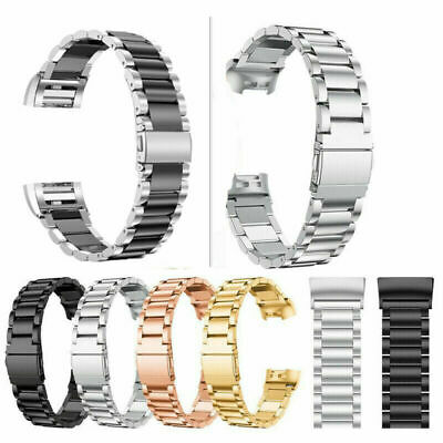 AU15.99 • Buy For Fitbit Charge 4 /3 Stainless Steel Watch Band Metal Bracelet Wrist Strap